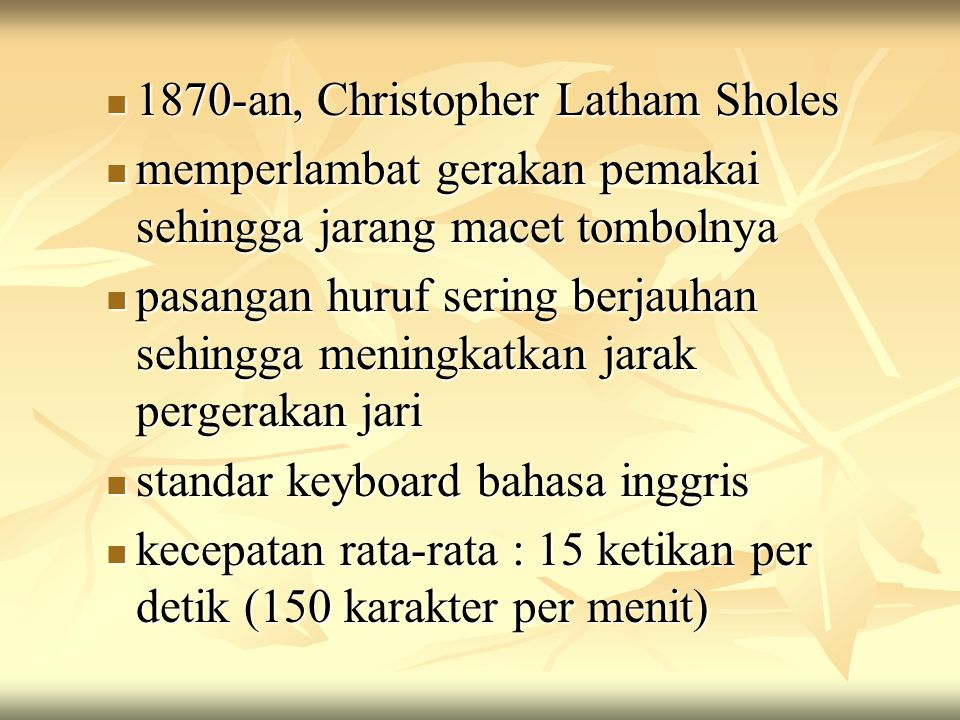1870-an, Christopher Latham Sholes