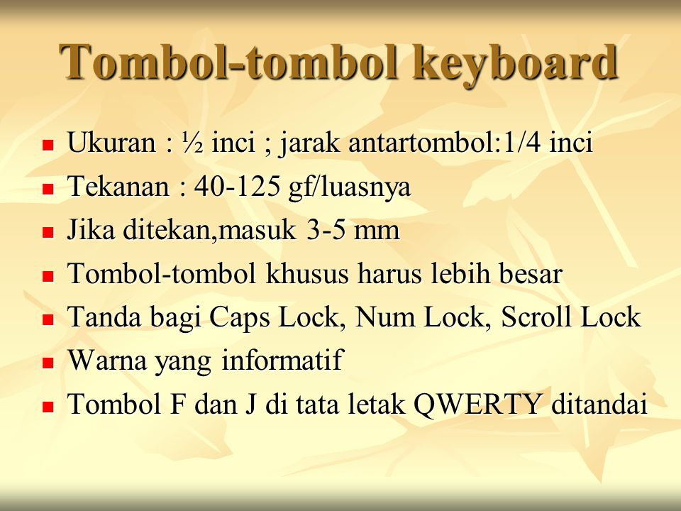 Tombol-tombol keyboard