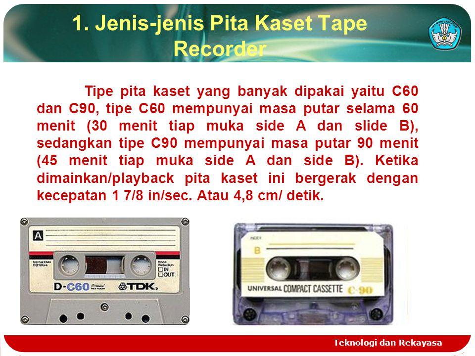 1. Jenis-jenis Pita Kaset Tape Recorder
