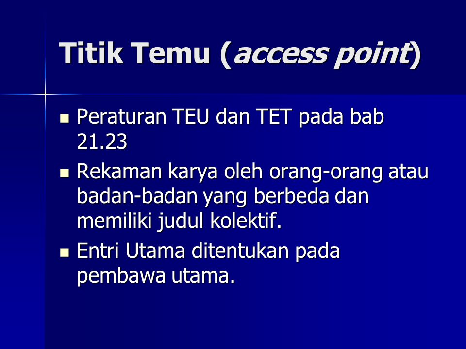 Titik Temu (access point)