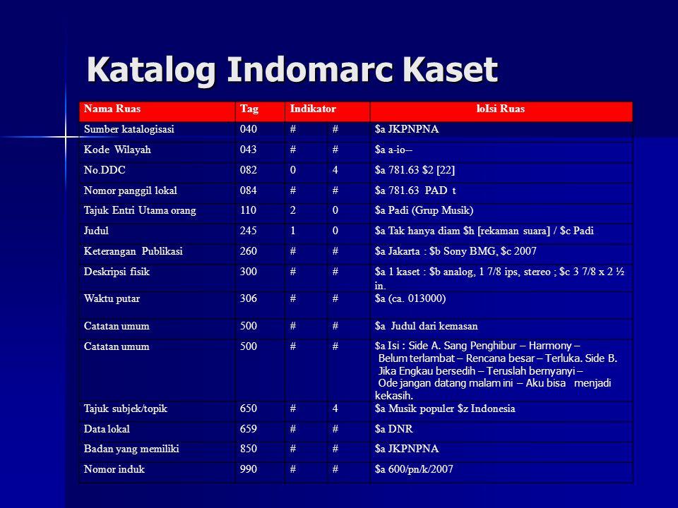 Katalog Indomarc Kaset