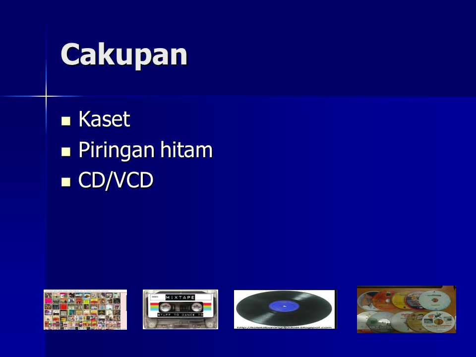 Cakupan Kaset Piringan hitam CD/VCD
