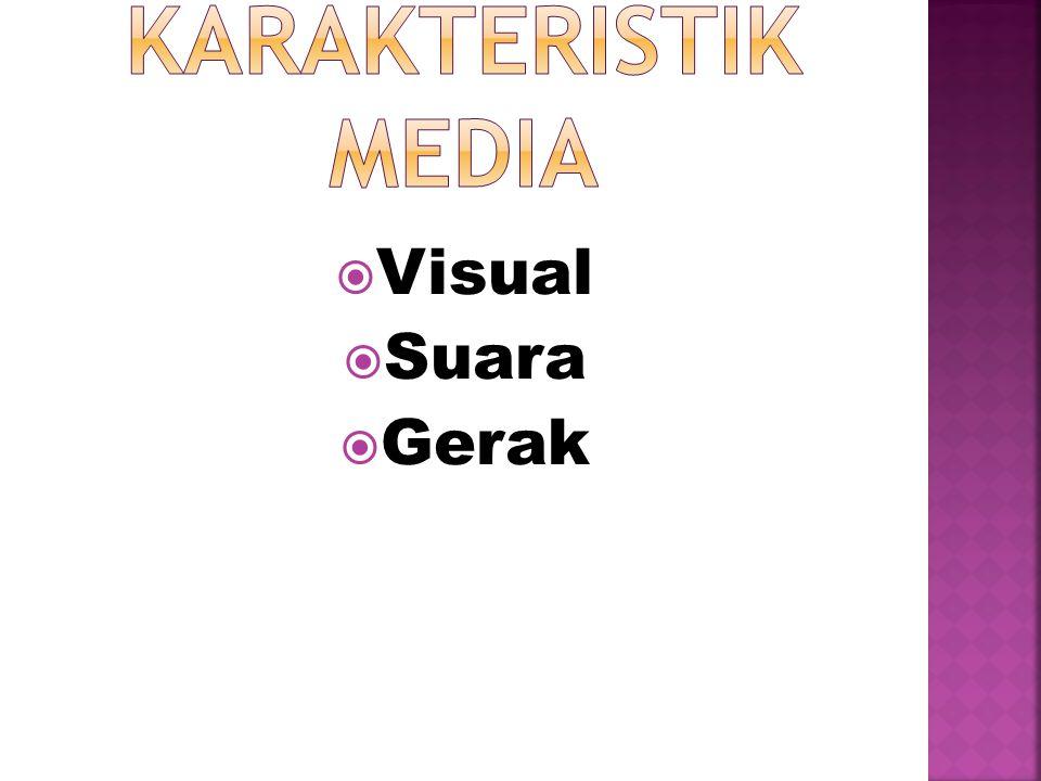 Karakteristik Media Visual Suara Gerak