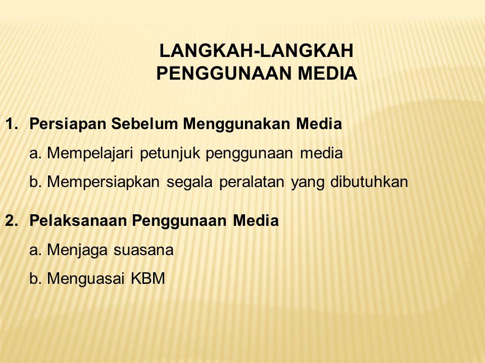 LANGKAH-LANGKAH PENGGUNAAN MEDIA