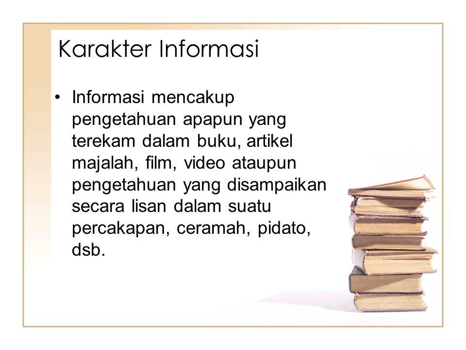 Karakter Informasi