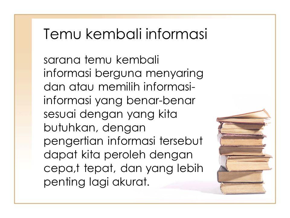 Temu kembali informasi