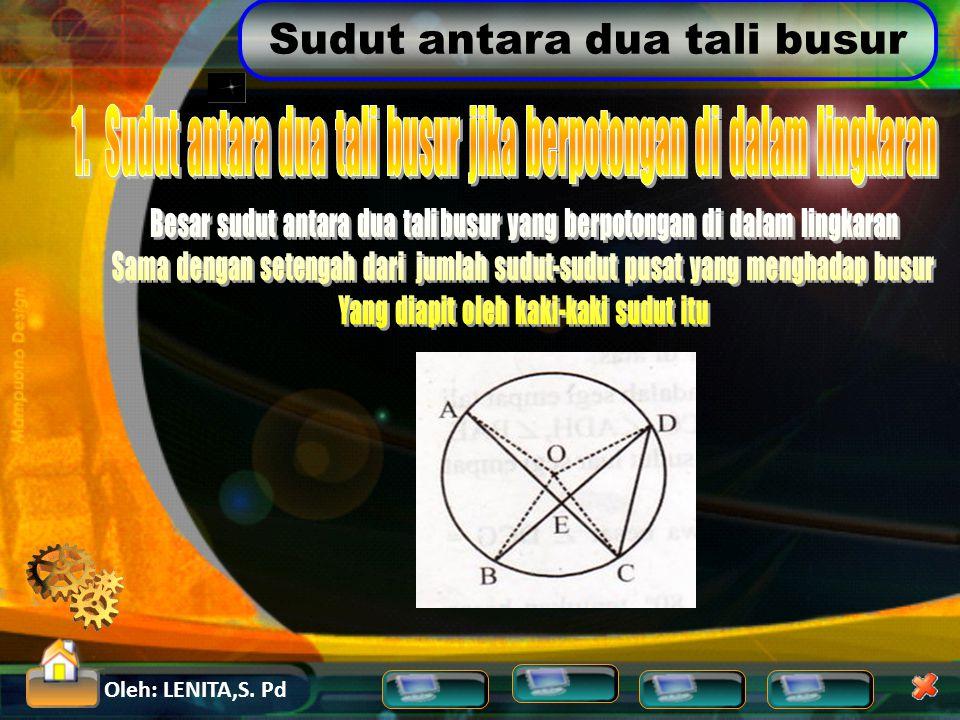 1. Sudut antara dua tali busur jika berpotongan di dalam lingkaran