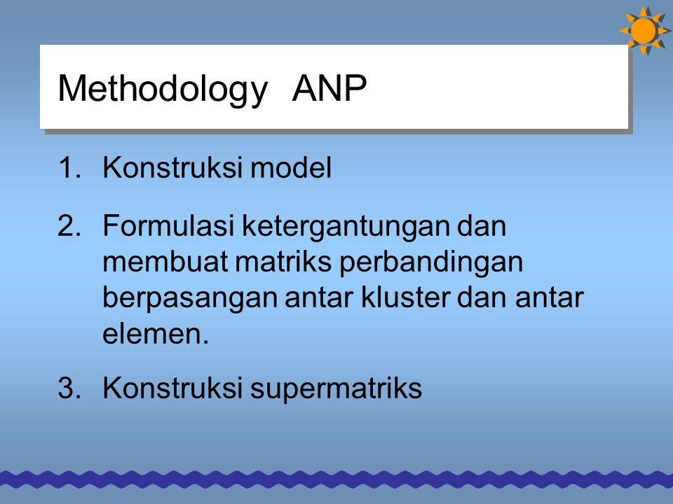 Methodology ANP Konstruksi model
