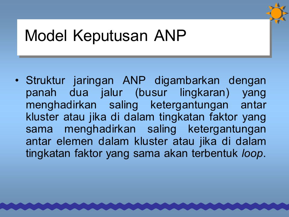 Model Keputusan ANP