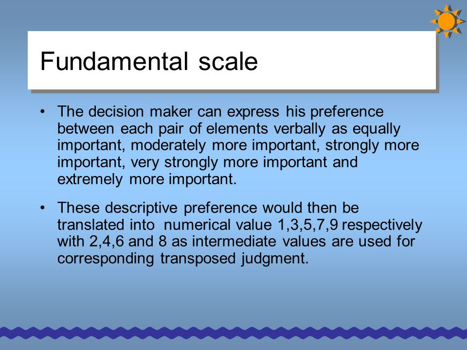 Fundamental scale