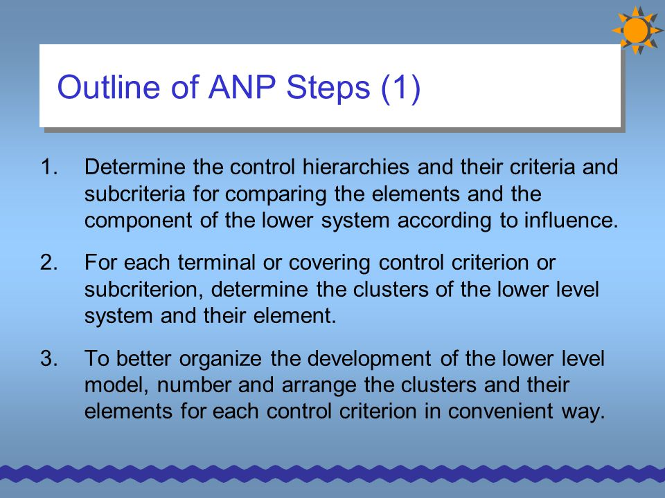 Outline of ANP Steps (1)