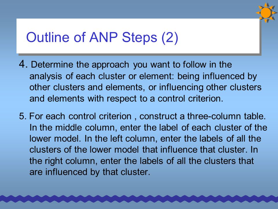 Outline of ANP Steps (2)