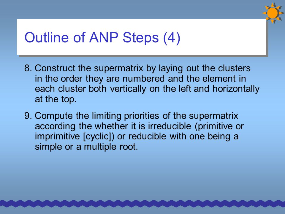 Outline of ANP Steps (4)
