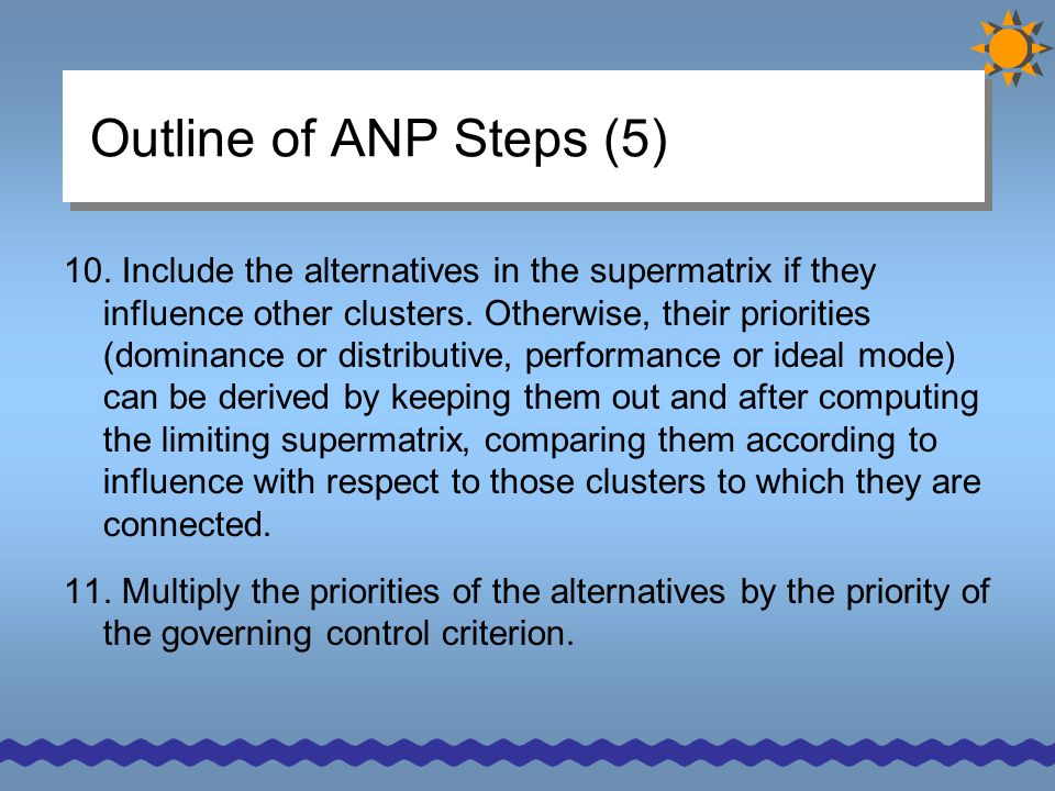 Outline of ANP Steps (5)