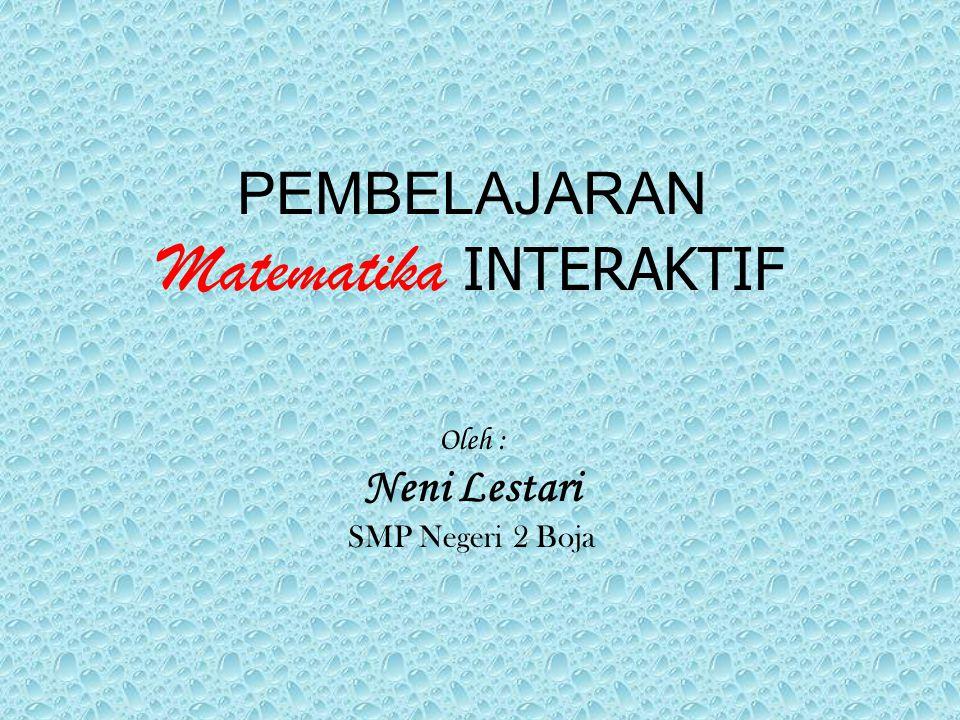 PEMBELAJARAN Matematika INTERAKTIF