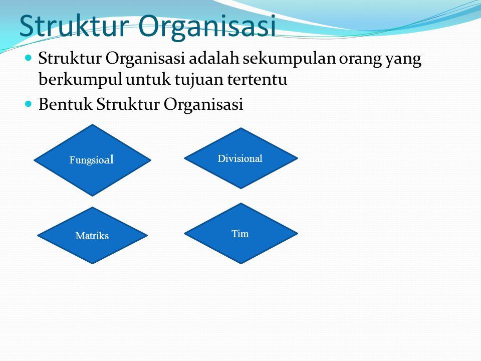 Struktur Organisasi Struktur Organisasi adalah sekumpulan orang yang berkumpul untuk tujuan tertentu.