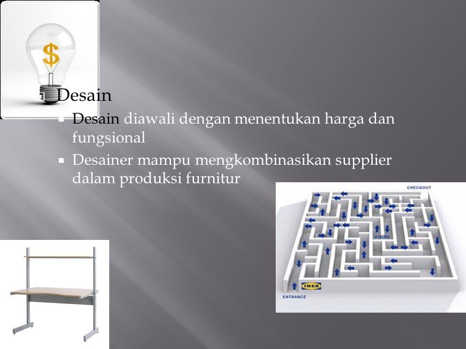 Desain Desain diawali dengan menentukan harga dan fungsional