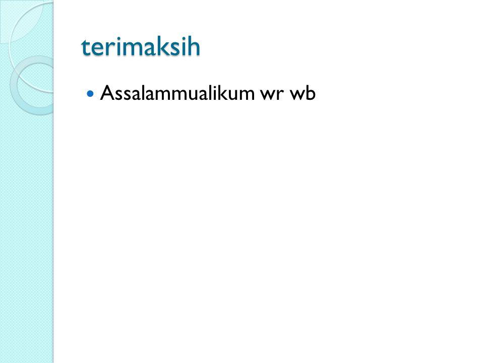 terimaksih Assalammualikum wr wb