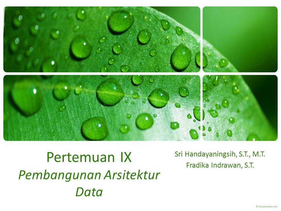 Pertemuan IX Pembangunan Arsitektur Data