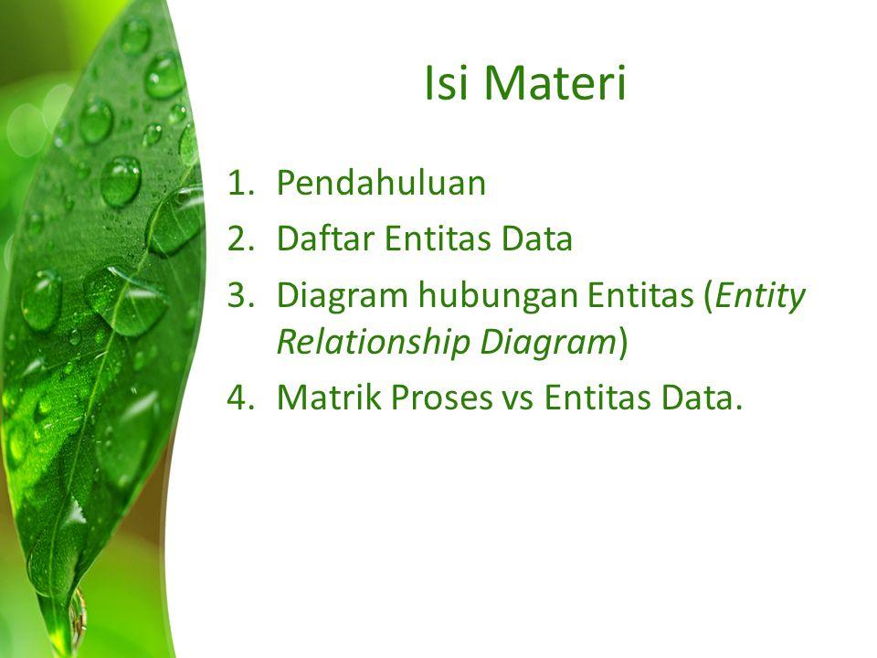 Isi Materi Pendahuluan Daftar Entitas Data