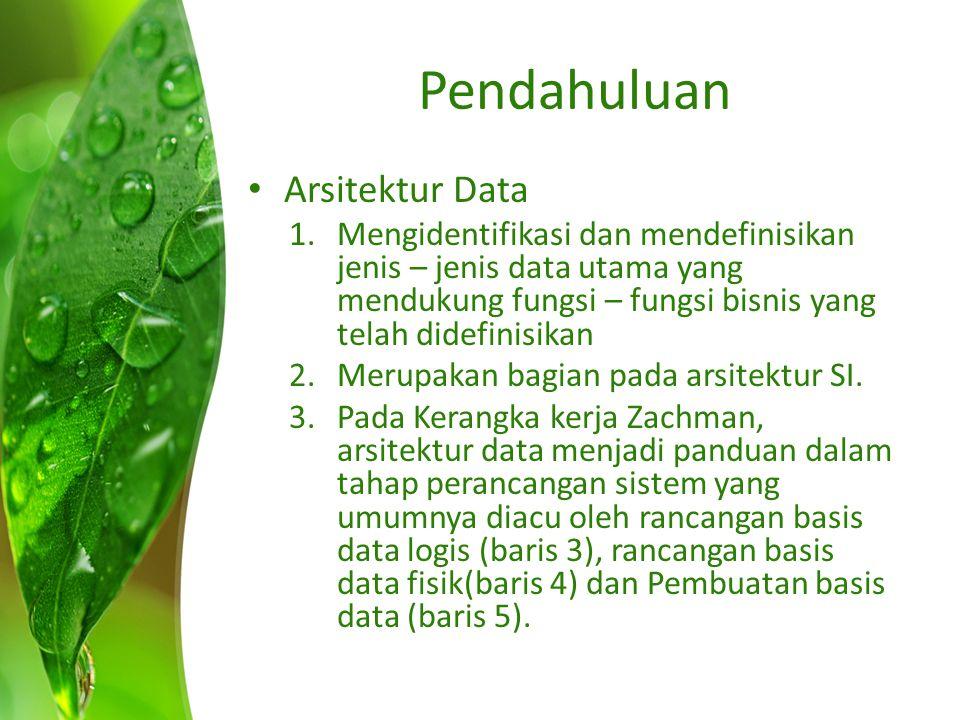Pendahuluan Arsitektur Data