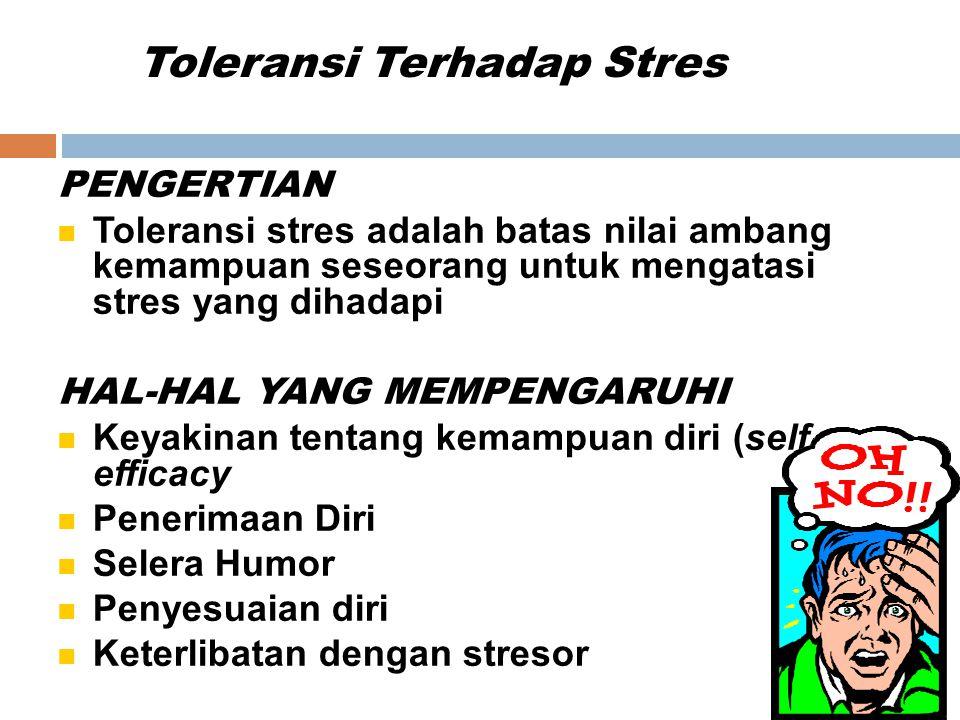 Toleransi Terhadap Stres