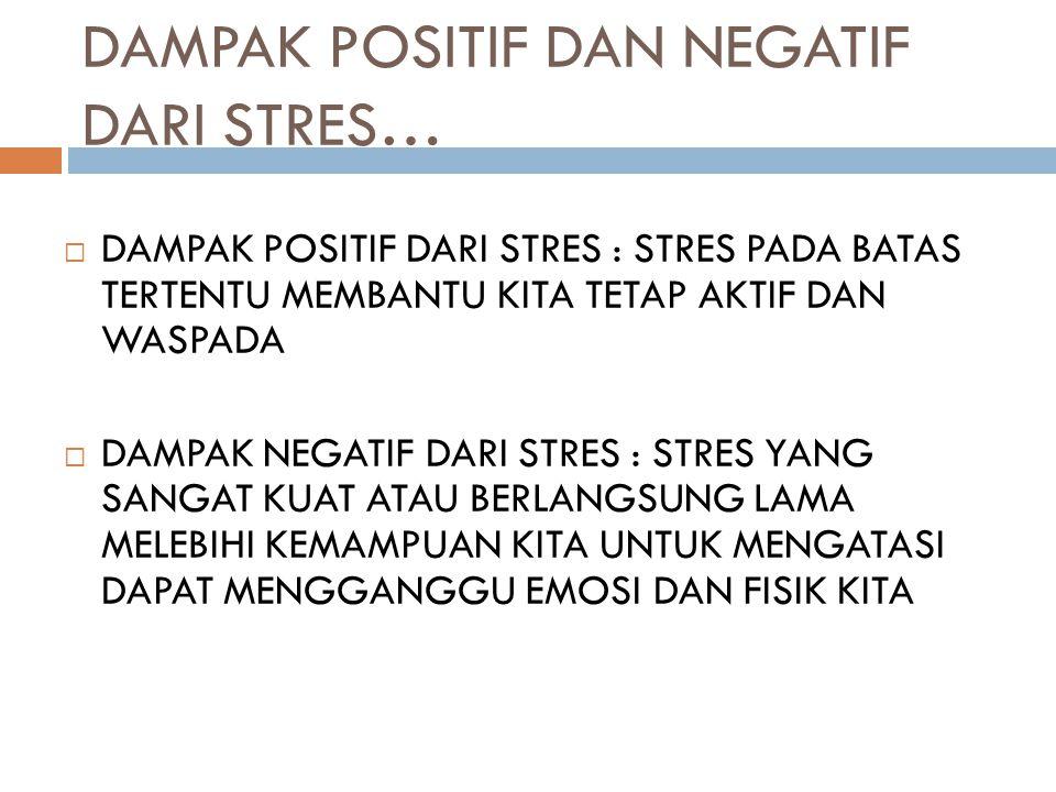 DAMPAK POSITIF DAN NEGATIF DARI STRES…
