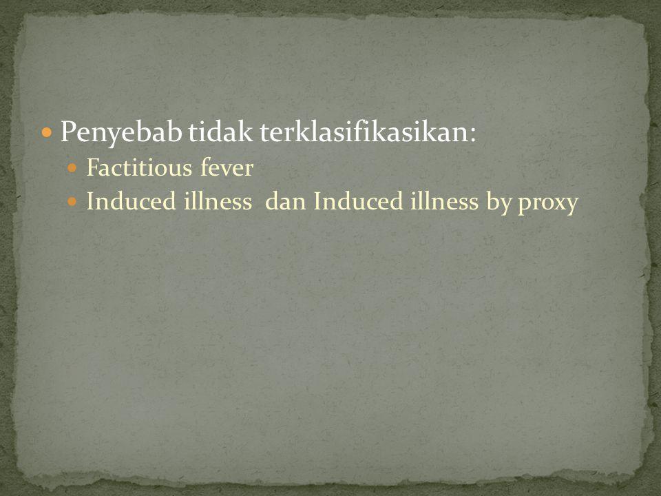 Penyebab tidak terklasifikasikan: