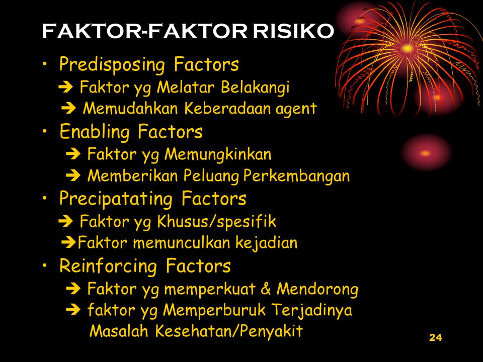 FAKTOR-FAKTOR RISIKO Predisposing Factors Enabling Factors