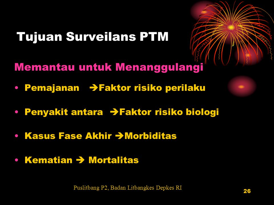 Tujuan Surveilans PTM Memantau untuk Menanggulangi