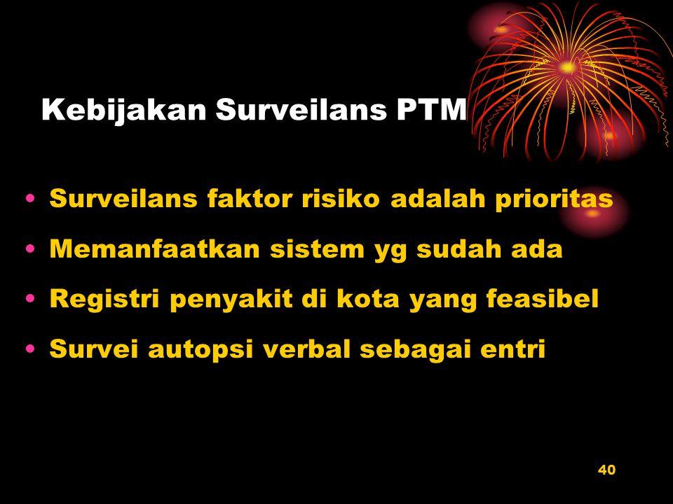 Kebijakan Surveilans PTM