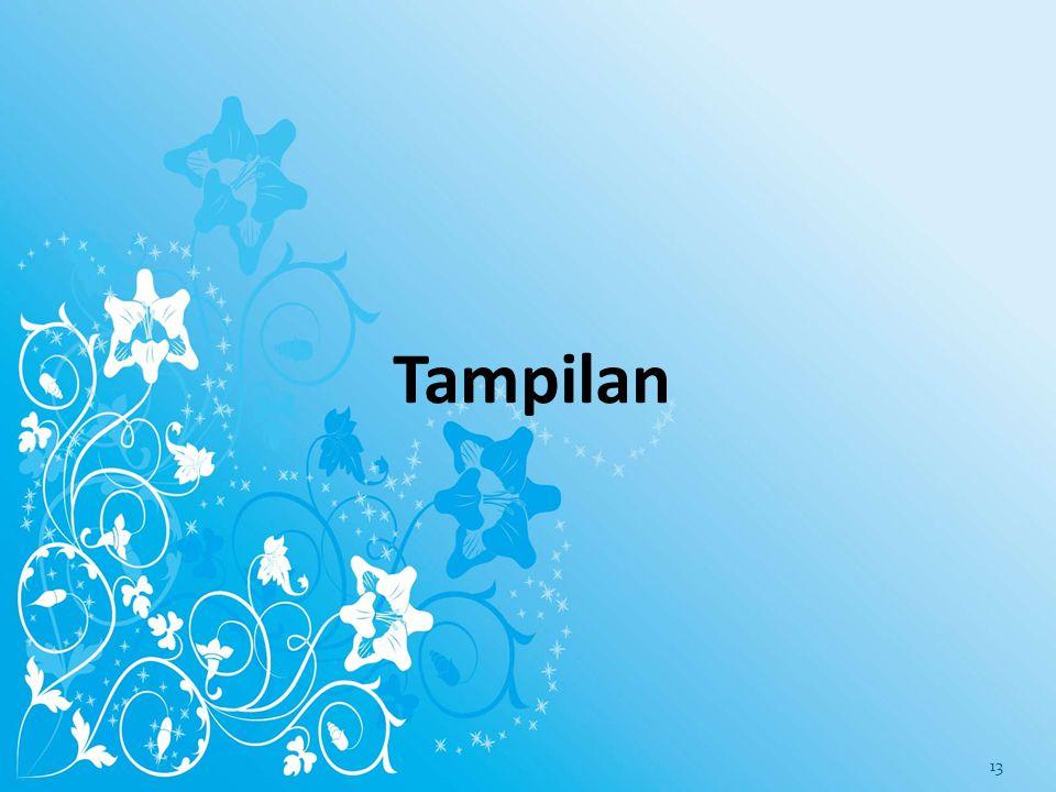 Tampilan