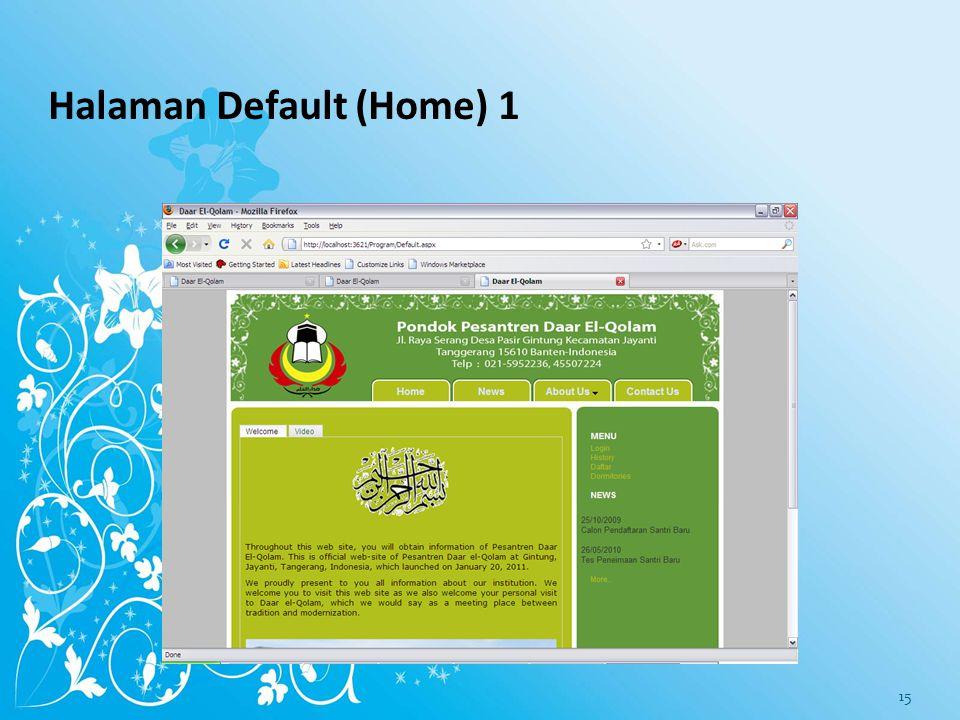 Halaman Default (Home) 1