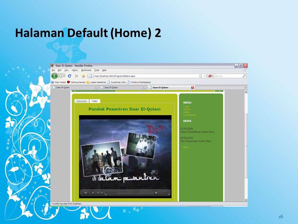 Halaman Default (Home) 2