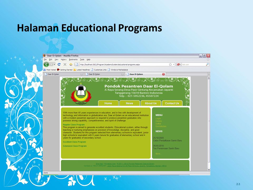 Halaman Educational Programs