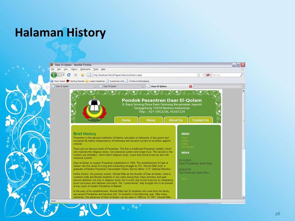 Halaman History