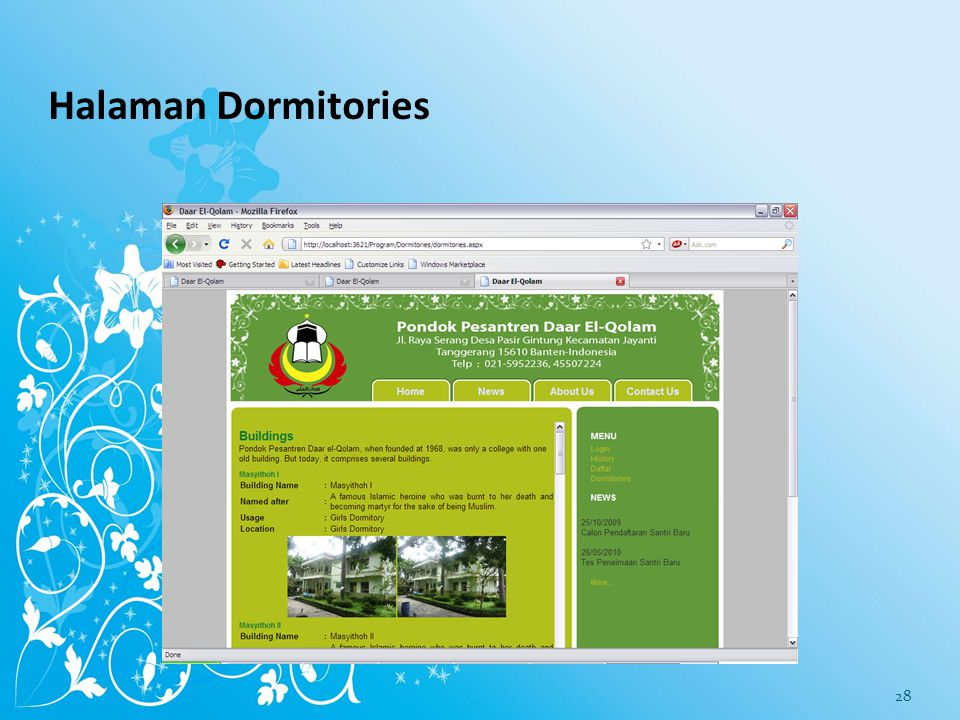Halaman Dormitories