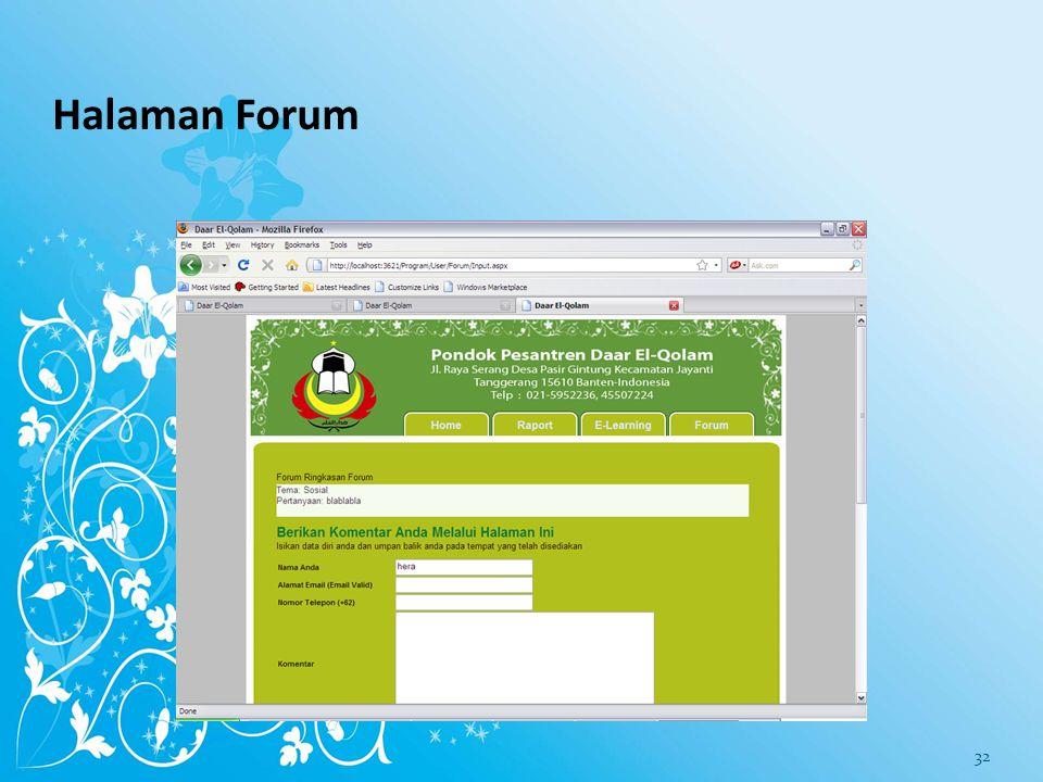 Halaman Forum
