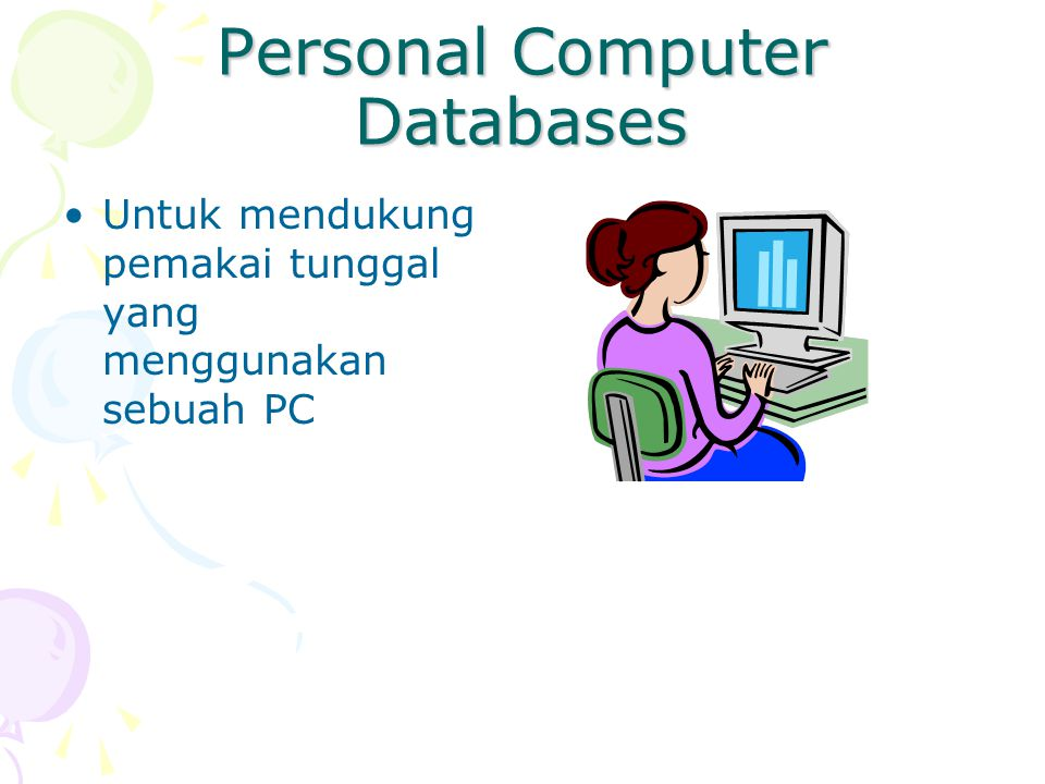 Personal Computer Databases