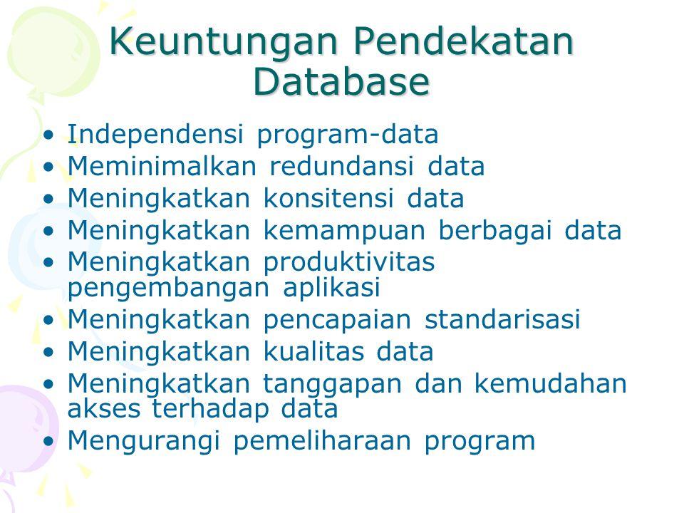 Keuntungan Pendekatan Database