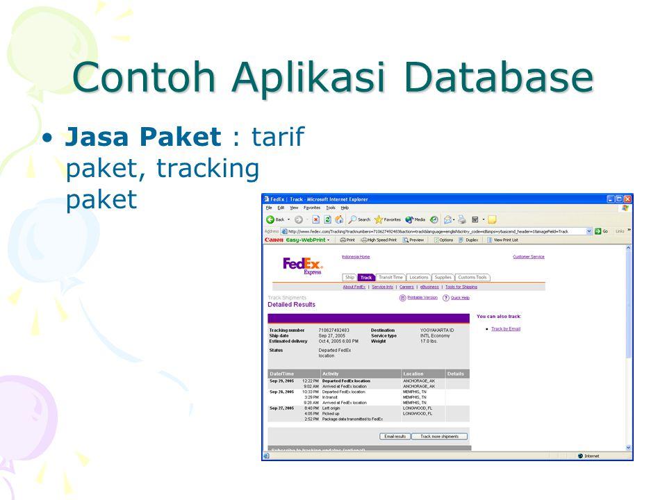 Contoh Aplikasi Database