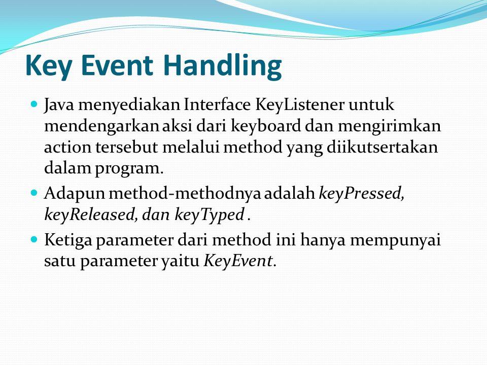 Key Event Handling