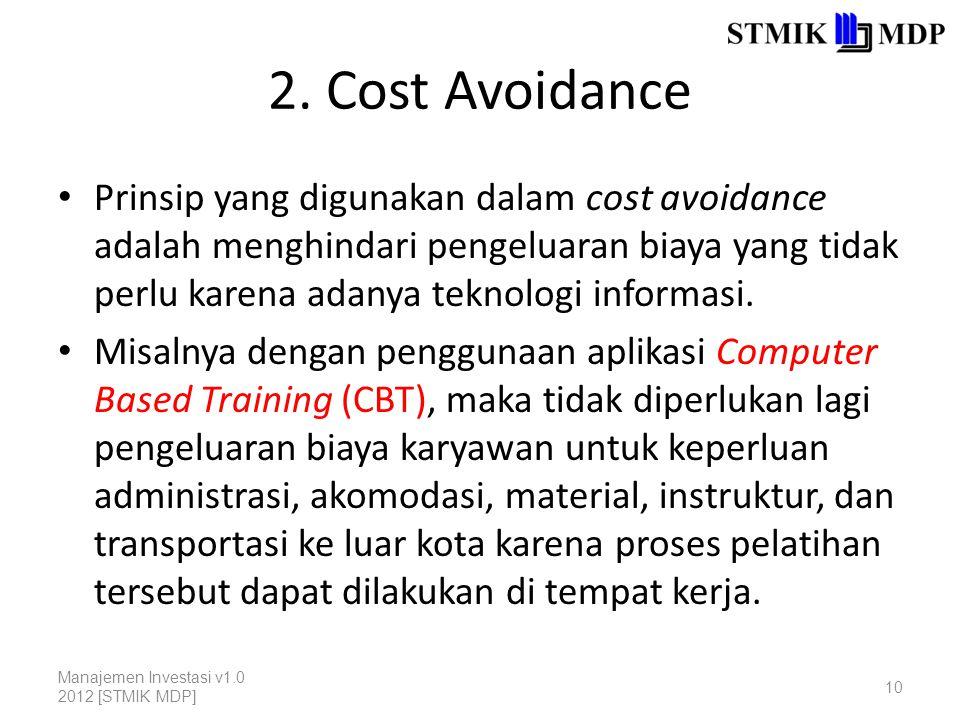 2. Cost Avoidance