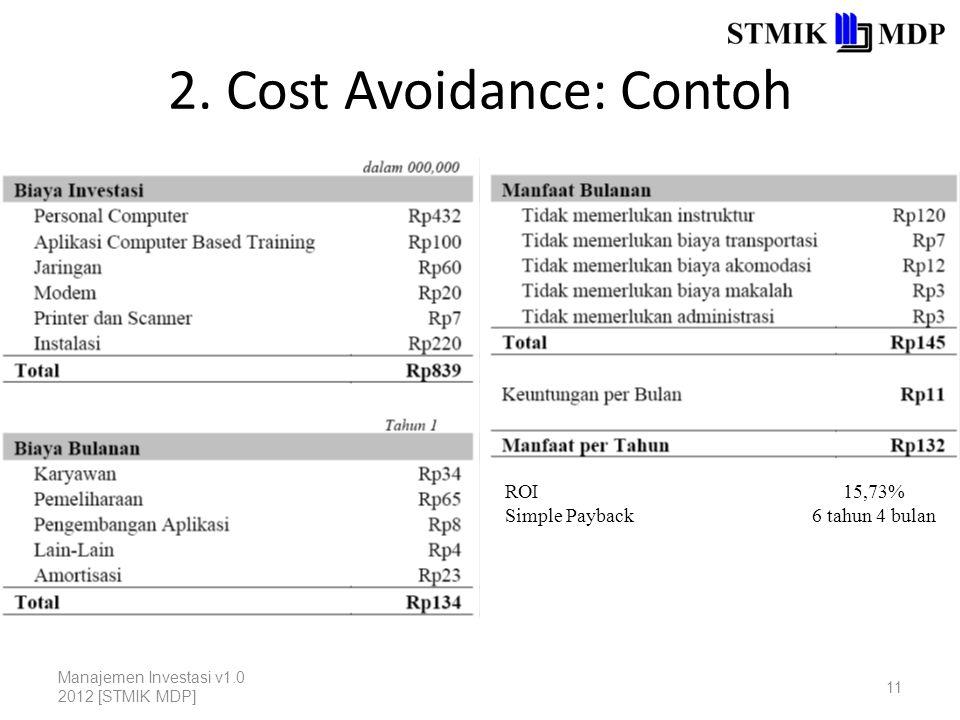 2. Cost Avoidance: Contoh