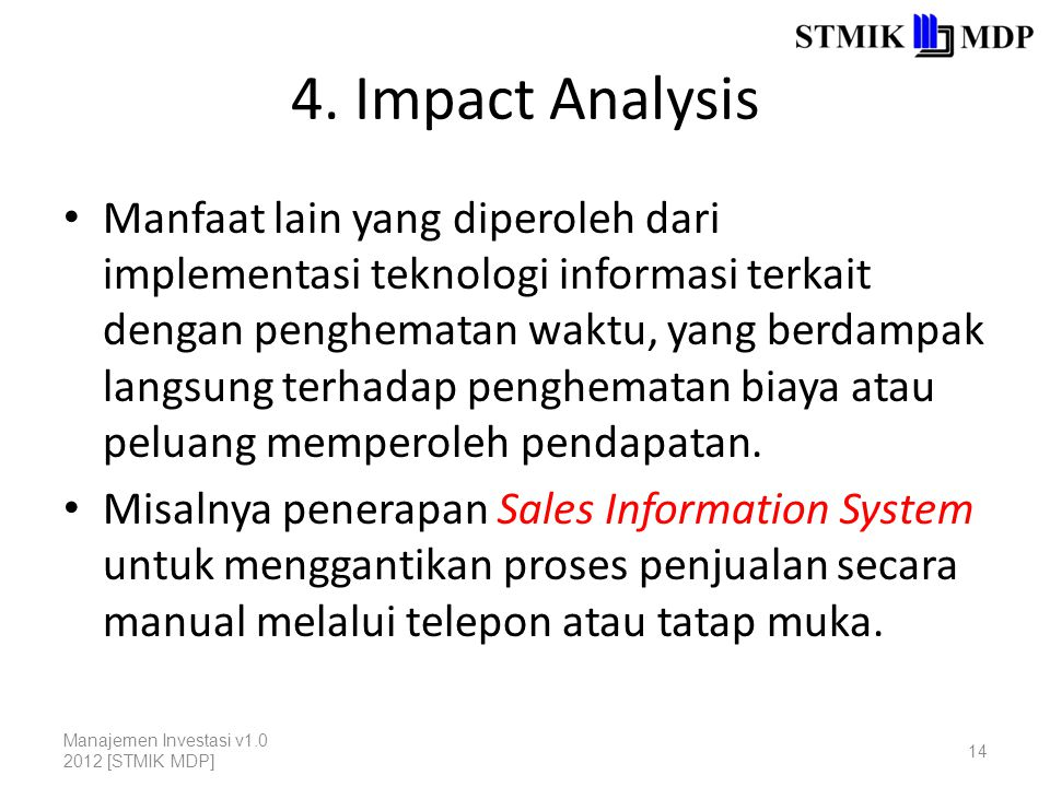4. Impact Analysis