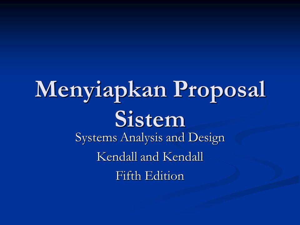 Menyiapkan Proposal Sistem