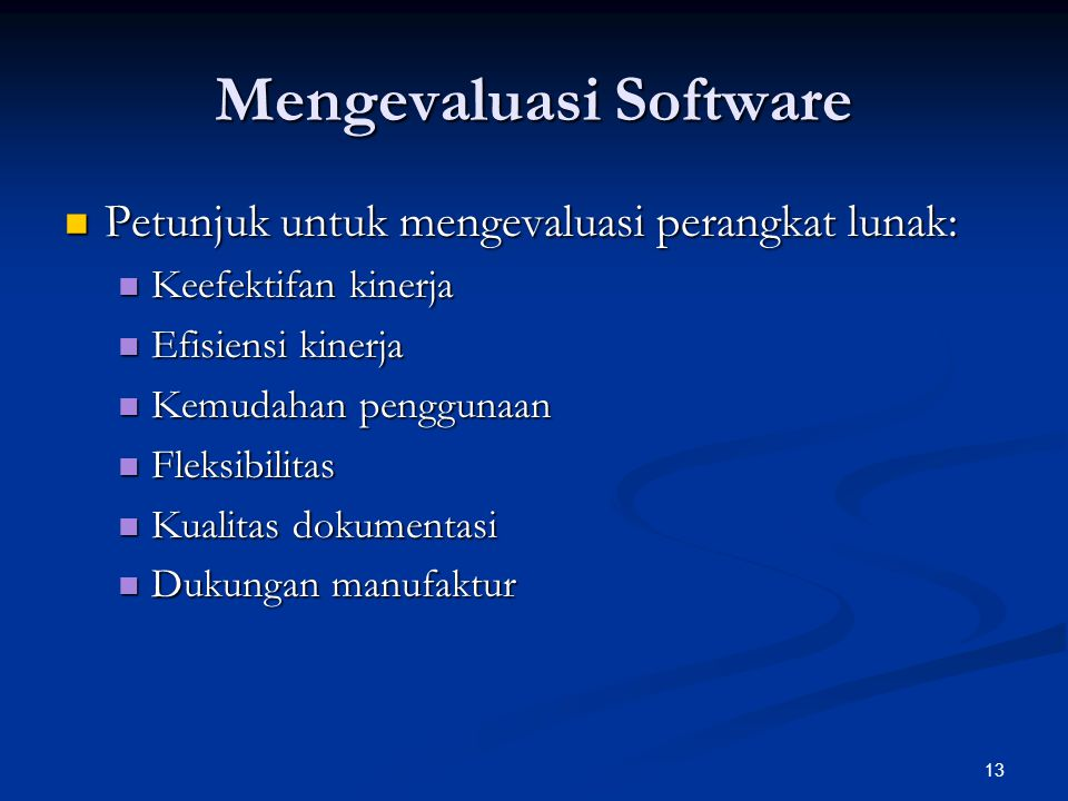 Mengevaluasi Software