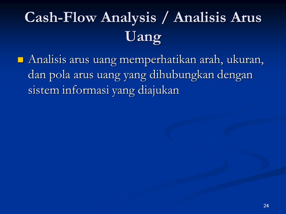 Cash-Flow Analysis / Analisis Arus Uang