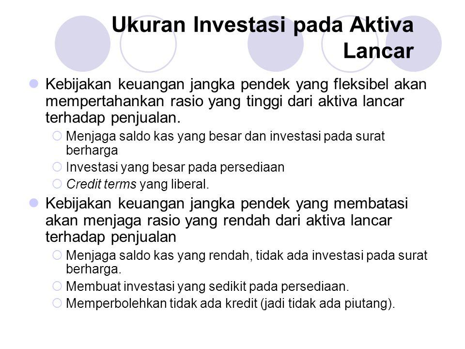 Ukuran Investasi pada Aktiva Lancar