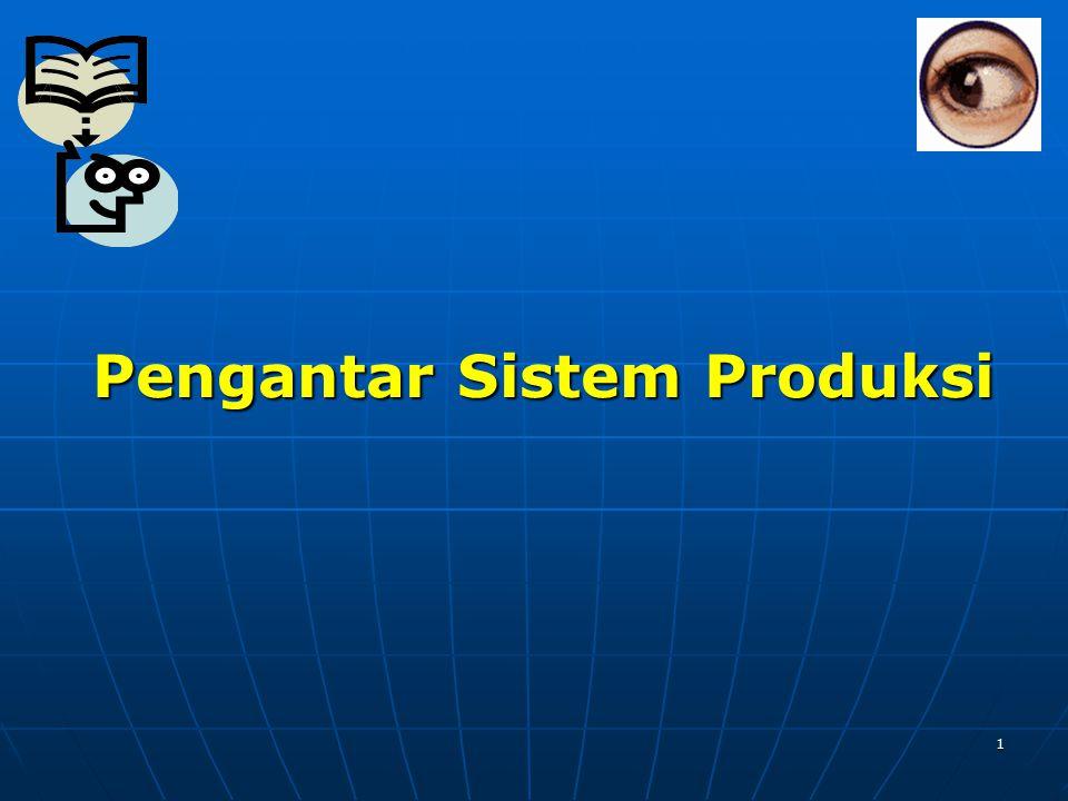 Pengantar Sistem Produksi